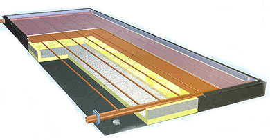 Pannello solare di rame