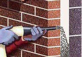 Come fare isolamento termico di una intercapedine con insufflaggio di schiume o materiale sfuso - Coibentare una parete interna ...