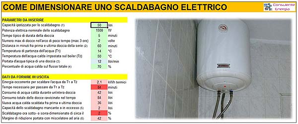 Come dimensionare un boiler elettrico per l 39 acqua calda - Scaldabagno elettrico istantaneo per doccia ...