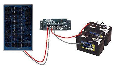 Schema Elettrico Regolatore Di Carica Per Pannelli Solari : Come collegare il regolatore di carica a una batteria schema di