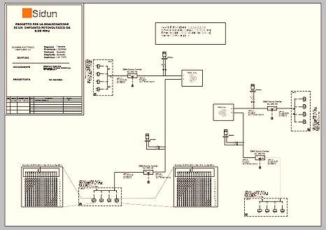 Schema unifilare impianto fotovoltaico 3 kw