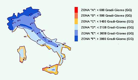 Cartina Dellitalia Con Zone Climatiche.Zona Climatica Conto Termico Come Sapere A Quale Zona Climatica